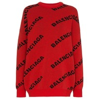 Red Wool Sweater by Balenciaga