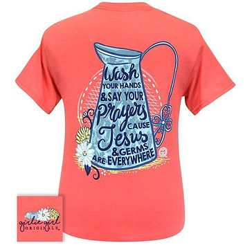 Girlie Girl Originals Preppy Wash Hands Say Prayers T-Shirt