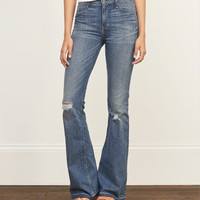 A&F High Rise Flare Jeans