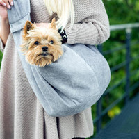 dog sling dog bag doggie bag Amigo Doggy Bag dog accessories pet transport cosy and dozy  pet sling carrier wife gift girlfriend gift