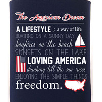 'American Dream Definition' Koozie