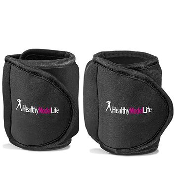 Ankle Weights Set by Healthy Model Life - 1lb, 2lb, 5lb and 8lb Sets - As Worn By Victoria Secret Angels - Used In Top Gyms in New York