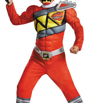 Power Rangers Dino Charge: Red Ranger Muscle Child Costume