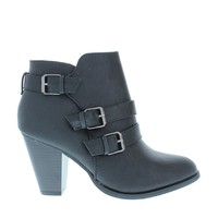 3Buckle Shimmer Ankle Bootie