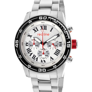 Men's Black Bezel White Dial Watch