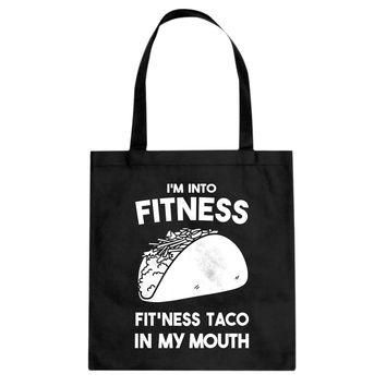 Tote Fitness Taco Canvas Tote Bag