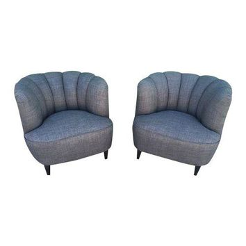 Pre-owned Atomic Mid-Century Modern Bucket Chairs - A Pair