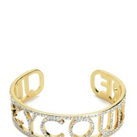 Gold Pave Juicy Couture Cuff by Juicy Couture, O/S