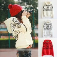 Fawn Hooded Fleece Sweater A 091110