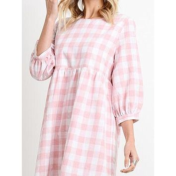 Check Point Dress | Pink