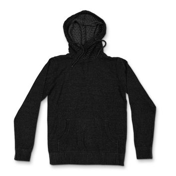 Birch x Black Funnel Neck Chain Stitch Sweater Hoodie