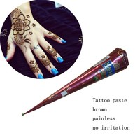 Natural Brown 1PCS Indian Henna Tattoo Paste Cones Mehndi Henna Tattoo Paste Cream GOLECHA KAVERI Brand Finger Body Paint