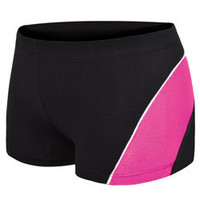 Metallic Paneled Cheerleading Performance Shorts - Perfect for Cheer Camp