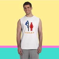 Toilet Funny Sleeveless T-shirt