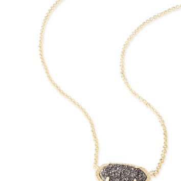 Kendra Scott Elisa Platinum Drusy Gold Necklace