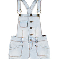 Frayed Denim Overall Shorts (Kids)