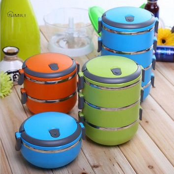 304 Stainless Steel Bowls Lunch Box Multilayer Japanese Bento Dinnerware Portable hot food thermos