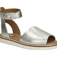 Lydie Hala (1 review) Silver Leather Womens Casual Sandals