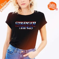 Exclusive Womens:  Stranger Things Tee / Dark Side Tee / Nostalgia / Crossover / TV Show / Netflix Tee / 1980s / Title Art / Typography