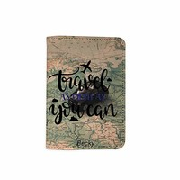 Travel Much As You Can Customized Cute Leather Passport Holder - Passport Covers - Passport Wallet_SUPERTRAMPshop
