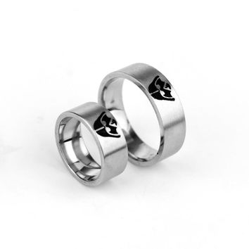 Star Wars Darth Vader Rebel Alliance Assassins creed Galactic Empire Design Stainless Steel Ring Wedding Band couples jewelry