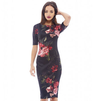 Women's Trending Popular Fashion 2016 Summer Beach Holiday Floral Printed Slim Package Hip Casual Party Playsuit Clubwear Bodycon Boho Dress _ 5961