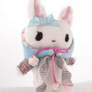 Super Kawaii Plushie Rabbit Doll with Kawaii accessories ( made to order )