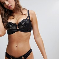 Ann Summers Evangelique Plunge Fuller Bust Bra & Brief Set at asos.com