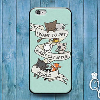 Cute Kitty Cat Quote Case Funny Phone Cover iPod iPhone 4 4s 5 5s 5c 6 Plus Fun