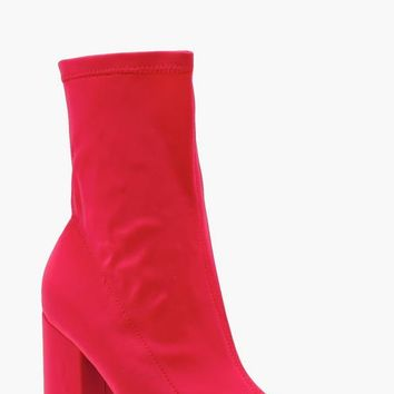 Stretch Pointed Toe Sock Boots   Boohoo
