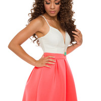 Miramar Dress - Neon Pink
