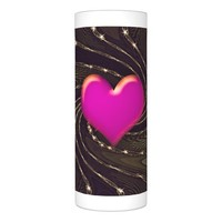 Fractal art wrapped LED candle
