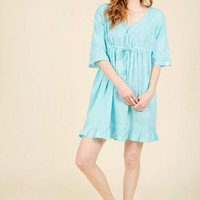 From Swimming to Snacking Cover-Up Dress in Aqua | Mod Retro Vintage Bathing Suits | ModCloth.com