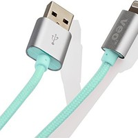VEO - Alu Braided 8 Pin Charger and Sync Cord for iPhone 5, iPad Mini, iPad 4G, iPod Touch 5G, Nano 7G (Turquoise)