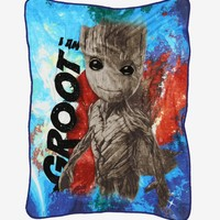 Marvel Avengers: Infinity War Groot Throw Blanket