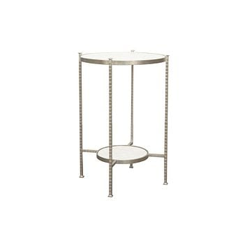 Worlds Away Cory Two Tier Silver Iron Table
