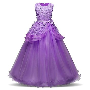 New Teenager Girl Dresses for Girls Birthday Wedding Party Pageant Long Princess Dress Kid New Year Costume Children Clothes