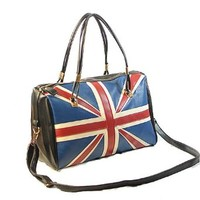 British Style Retro the Union Jack Print Handbag Shoulder Bag