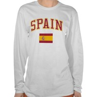 Spain + Flag T Shirt from Zazzle.com