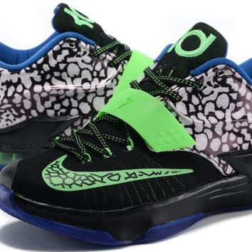 Nike Mens Kevin Durant Kd 7 Se Ep Black/green/blue Us7 12 | Best Deal Online