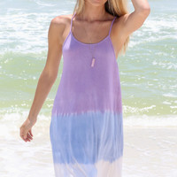 Malibu Tides Purple Ombre Tank Dress
