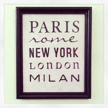 Fashion Capitals 8x10 Framed Wall Decor