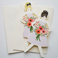 Wedding Paper Doll Cards | Set of 3