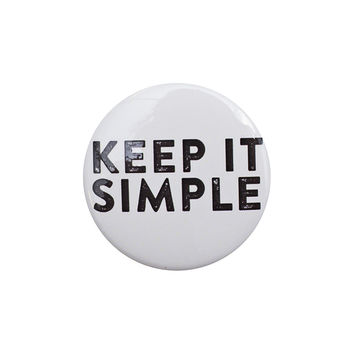 Keep it Simple White Button