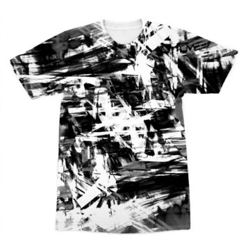 Black Smugded Ink American Apparel Sublimation T-Shirt