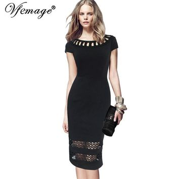 Vfemage Womens Elegant Vintage Applique Embroidery See-Through Mesh Party Cocktail Special Occasion Bodycon Sheath Dress 7691