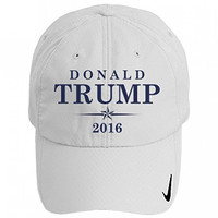 Donald Trump Campaign Hat: Nike Golf Sphere Dry Hat OS White