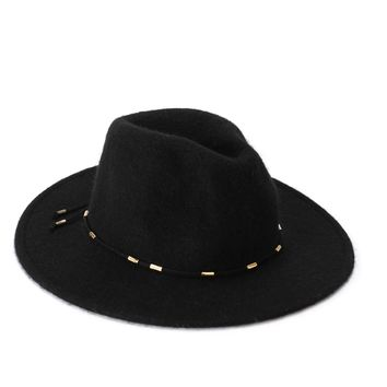 Hip Horay Fedora Hat - Black