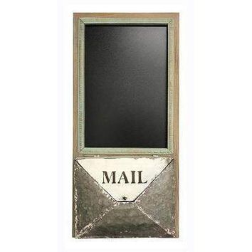 Rustic Envelope Wall Pocket Organizer with Chalkboard