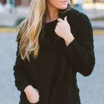 Some Days Lovin' Back at the Ranch Knit Tunic - Black